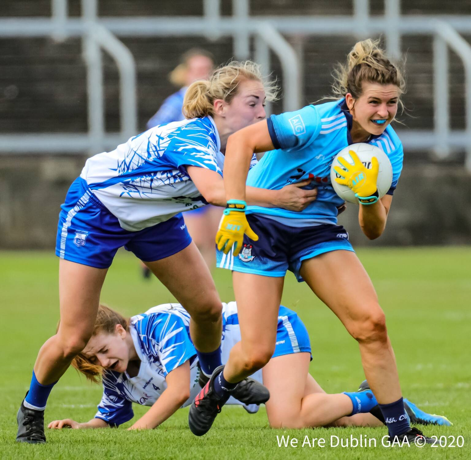 Dublin's Martha Byrne breaks away from a Waterford player during last year's championship, both sides meet again in round 2 of this years competition.