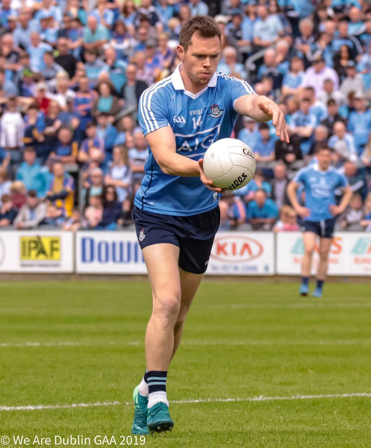 Dublin's Dean Rock who put in a player of the match performance finishing with 1-07to his name as Dublin claimed their 10th Leinster Championship title in a row.