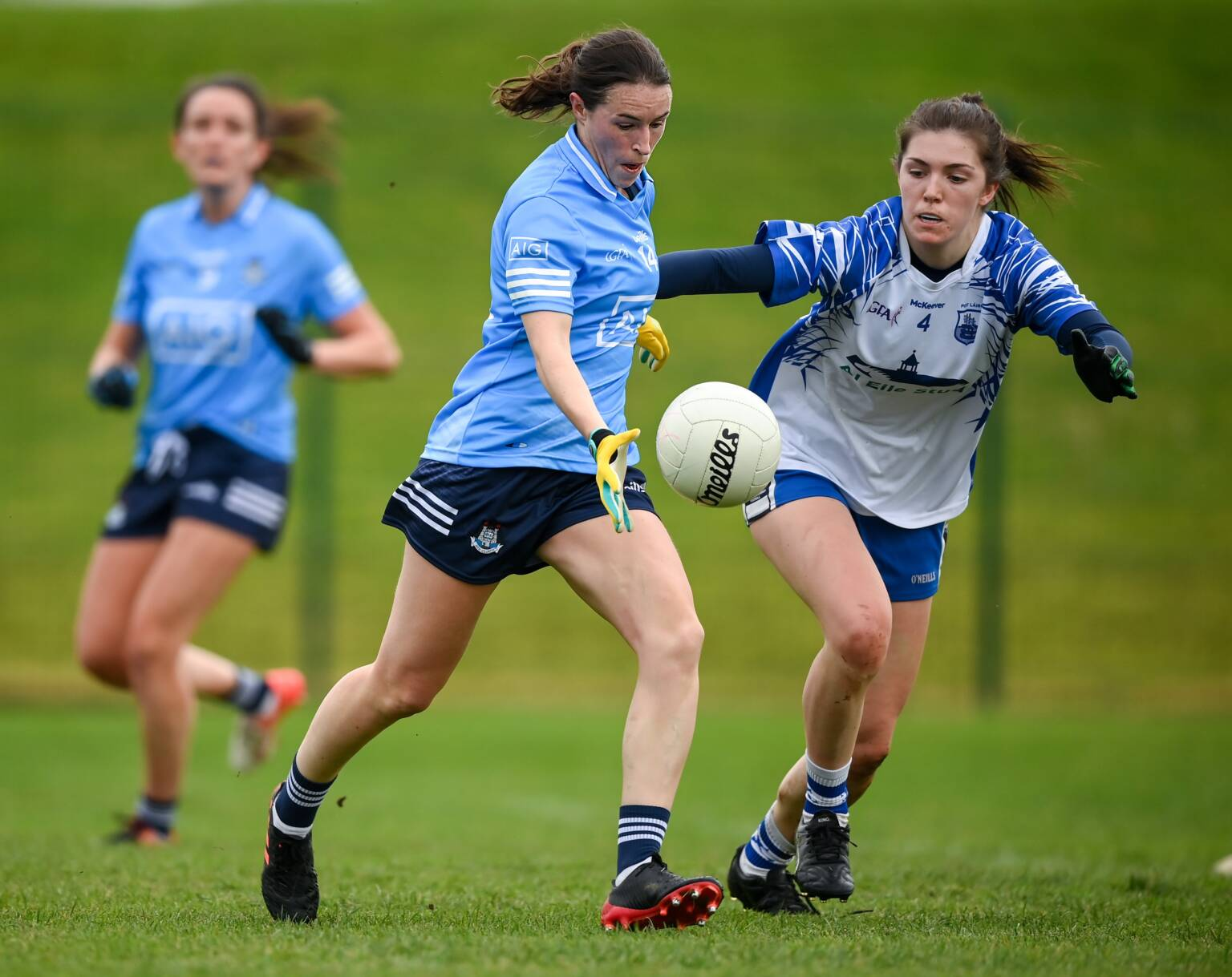Dublin's Sinead Aherne in action against Waterford, Aherne scored 0-06 as Dublin advanced to the TG4 All Ireland Championship semi-final