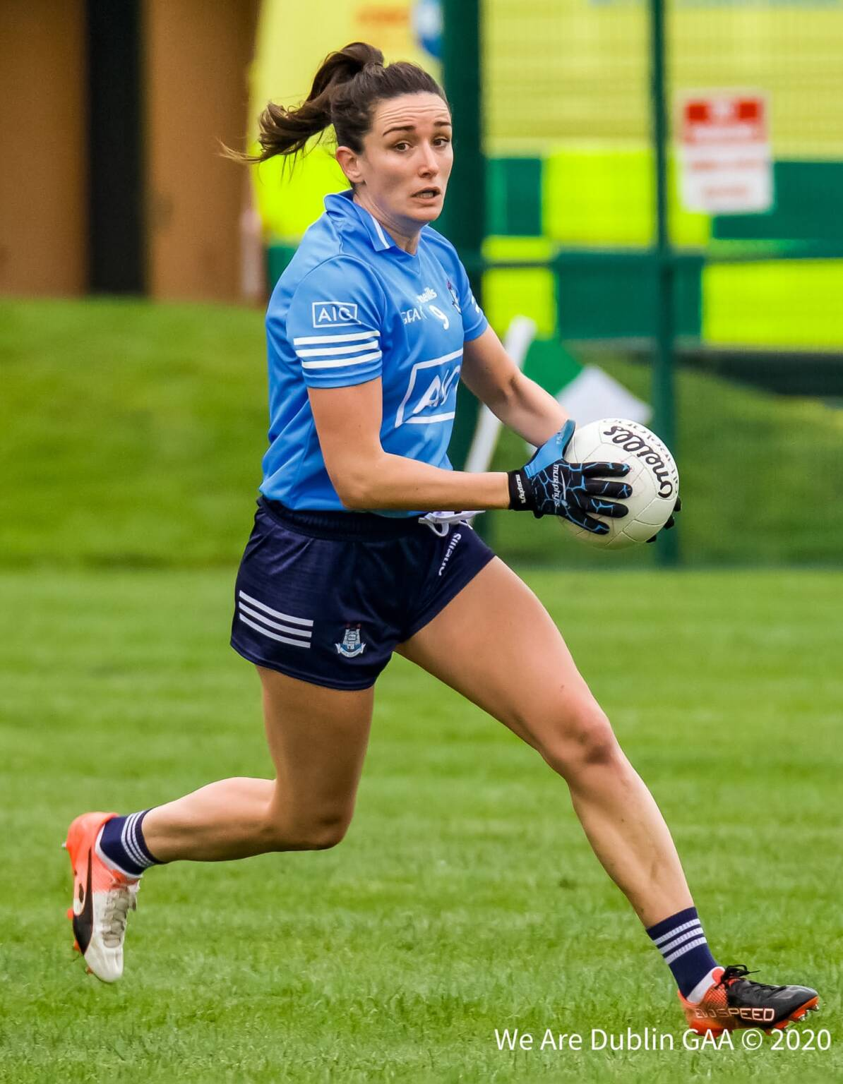 Niamh McEvoy in action against Waterford the St Sylvesters player is the one change to the starting Dublin team for the 2020 All Ireland Final