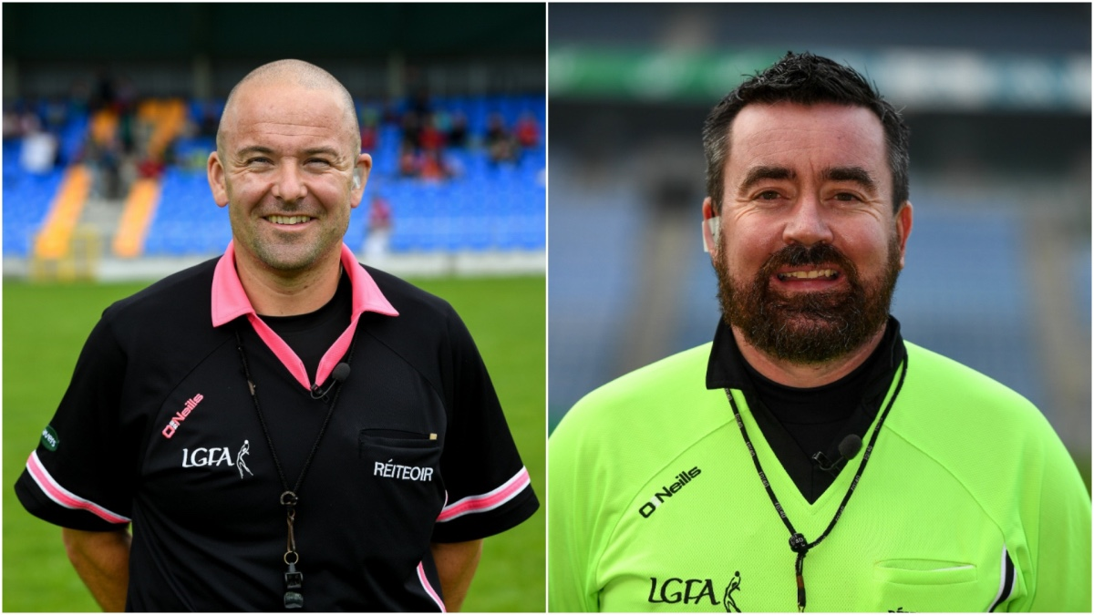 Carlow's Jonathan (L) and Kerry's Seamus Mulvihill (R) have been named as the match referees for the 2020 TG4 All Ireland Intermediate and Senior finals.