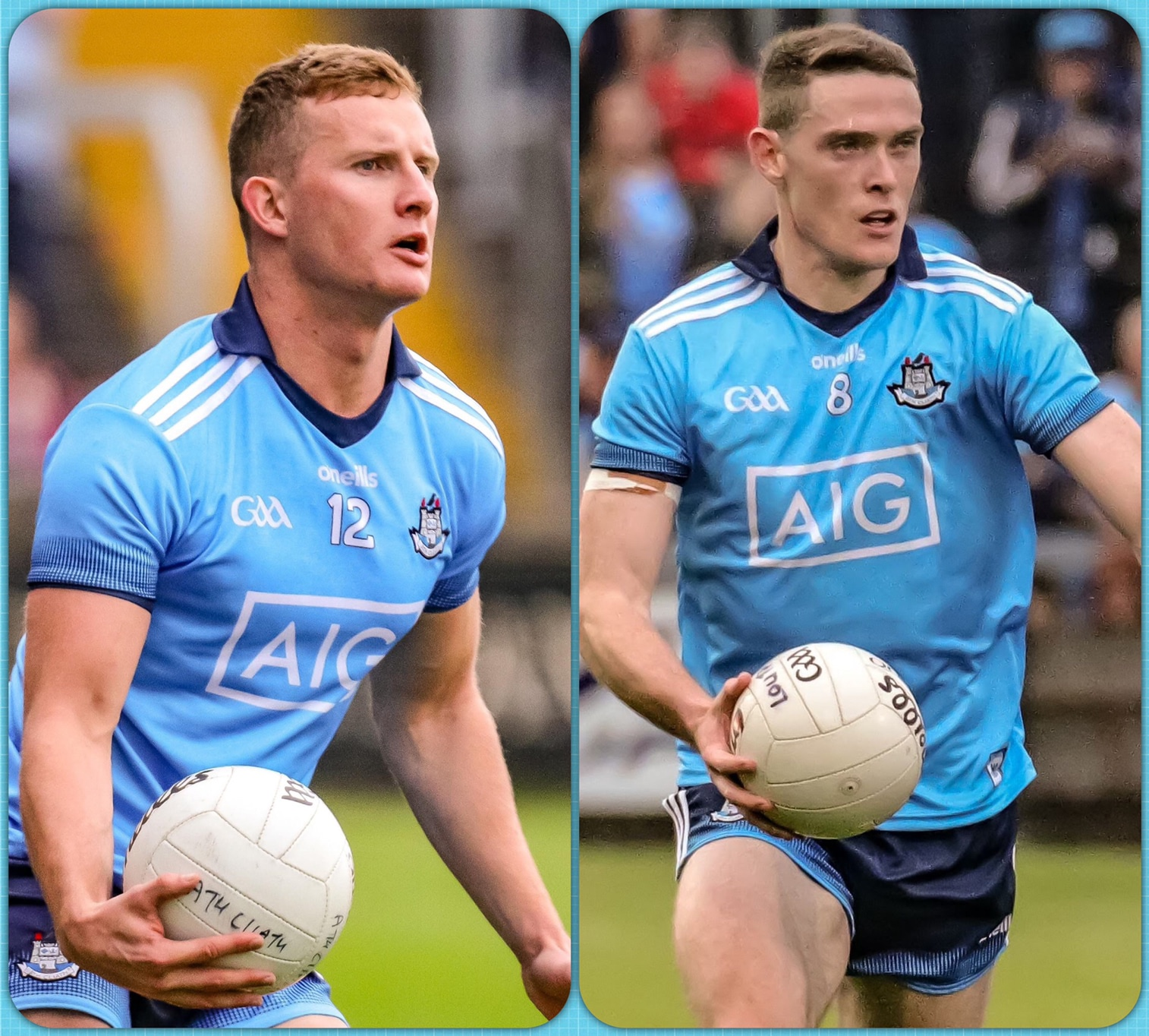 Dublin's Ciaran (L) and Brian Fenton (R) have been nominated for the 2020 PcW GAA/GPA All-Star Awards and also for the Player of the Year Award