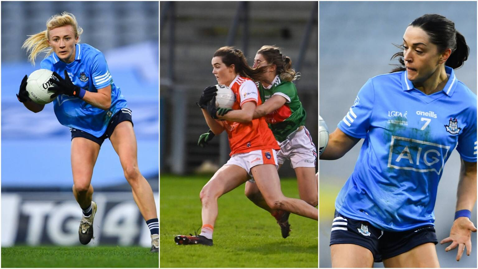 Dublin's Carla Rowe, Armagh's Aimee Mackin and Dublin's Sinead Goldrick are nominated for the Senior Players Player of the Year Award, winner will be announced on a special tv show to honour the teams of the 2020 All Ireland Ladies Football championships