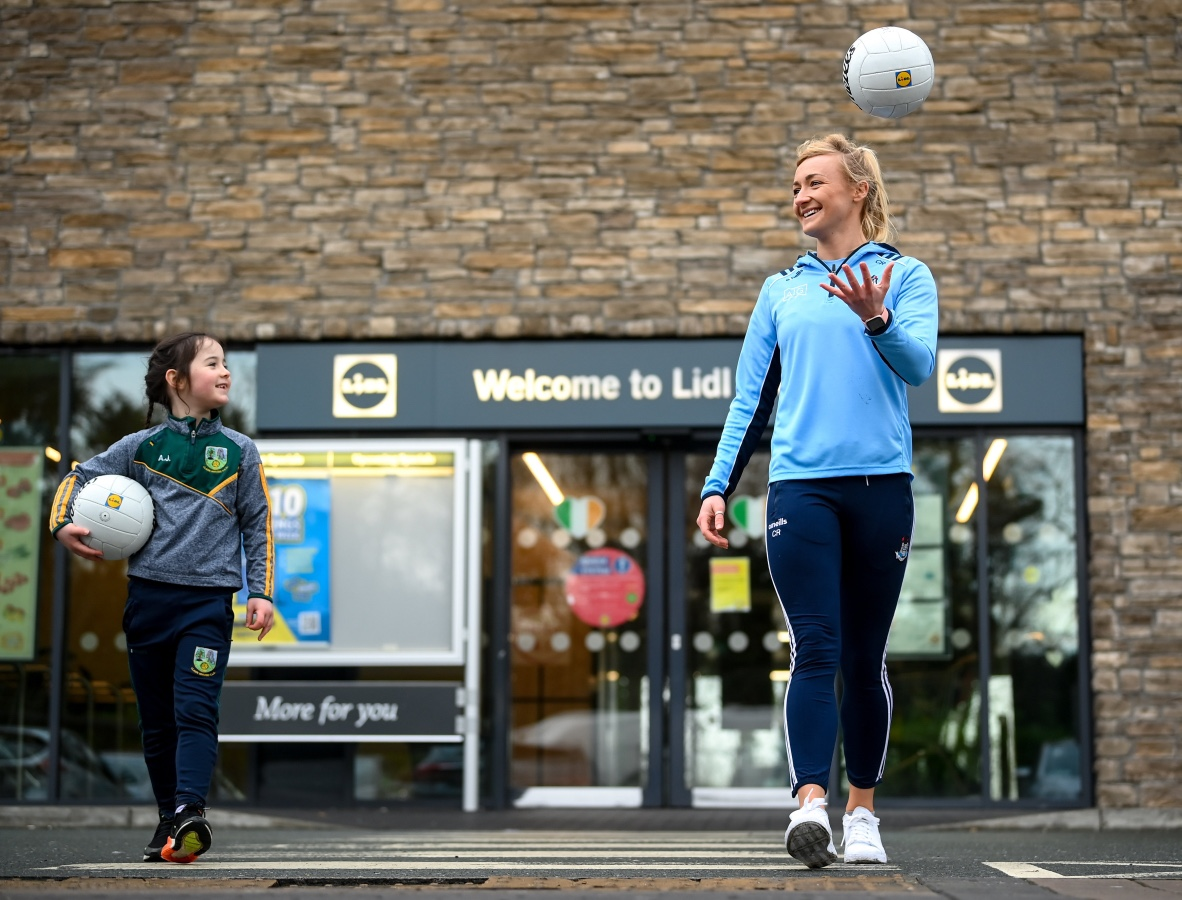 Dublin star Carla Rowe pictured at the launch of Lidl's new club fundraising initiative.