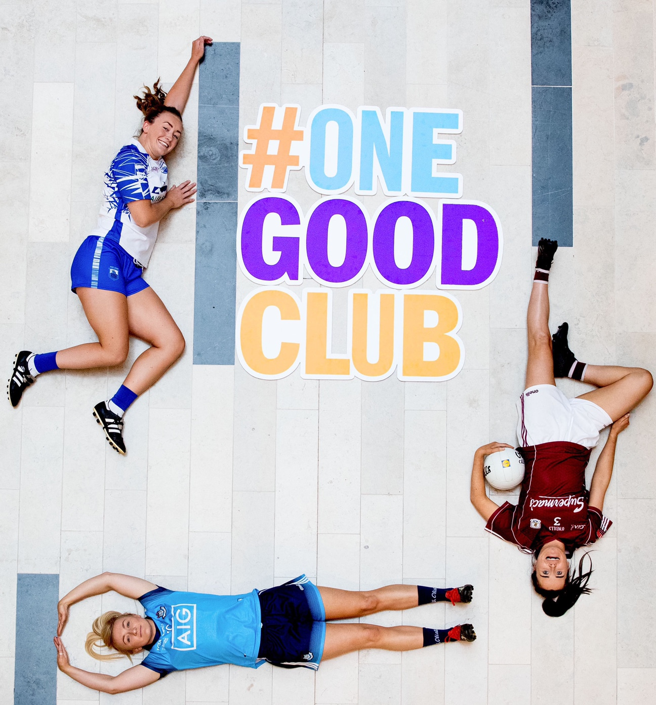 Players from Dublin, Galway and Waterford at a photo shoot for the Lidl One Good Club initiative