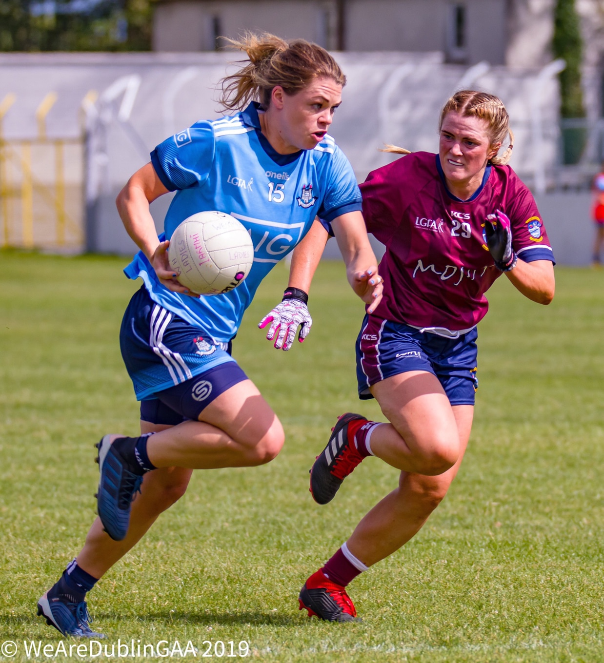 Dublin's Noelle Healy in action against Westmeath in the 2019 Leinster Final, Noelle announced her retirement from the inter-county game yesterday