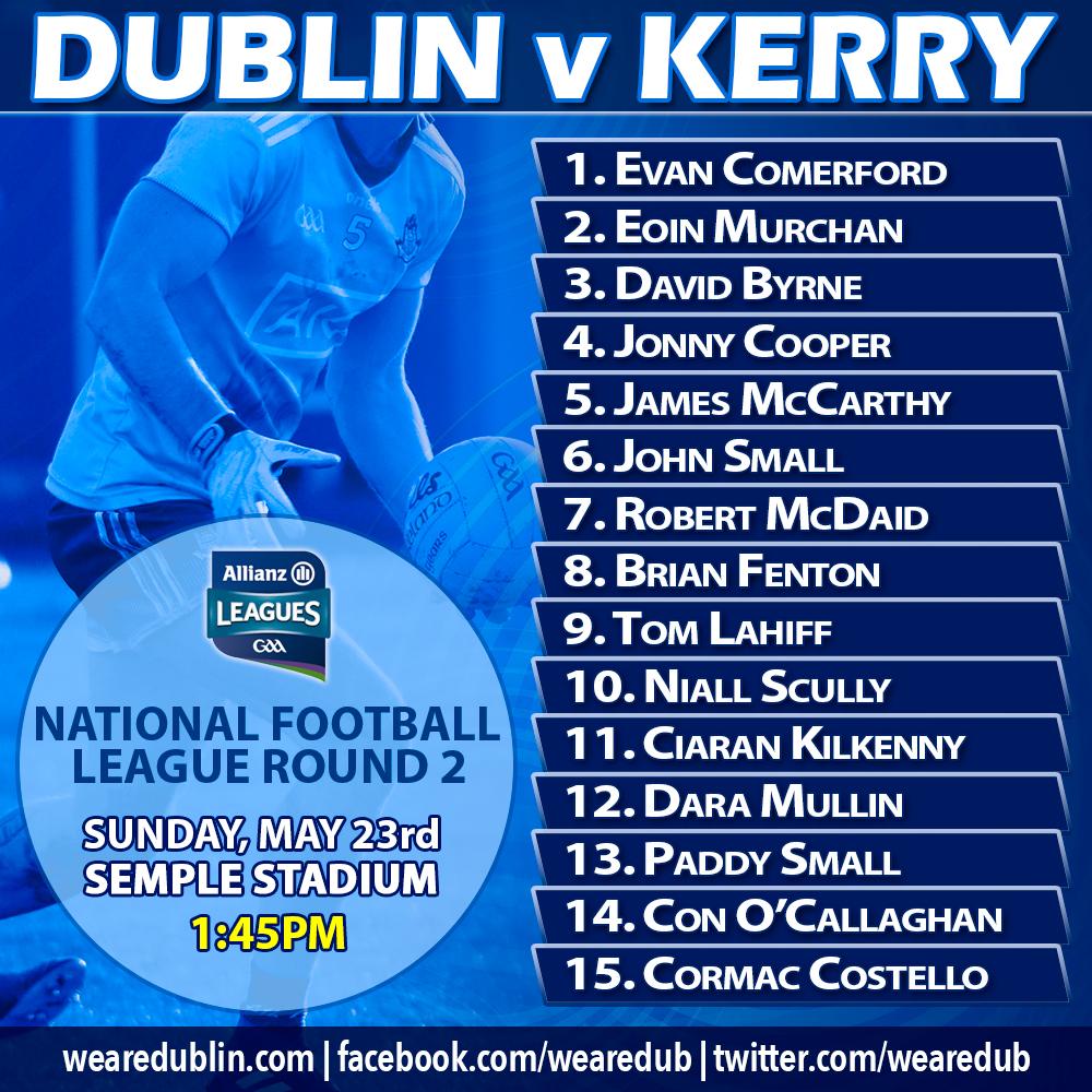 Dublin Senior Footballers v Kerry Allianz NFL