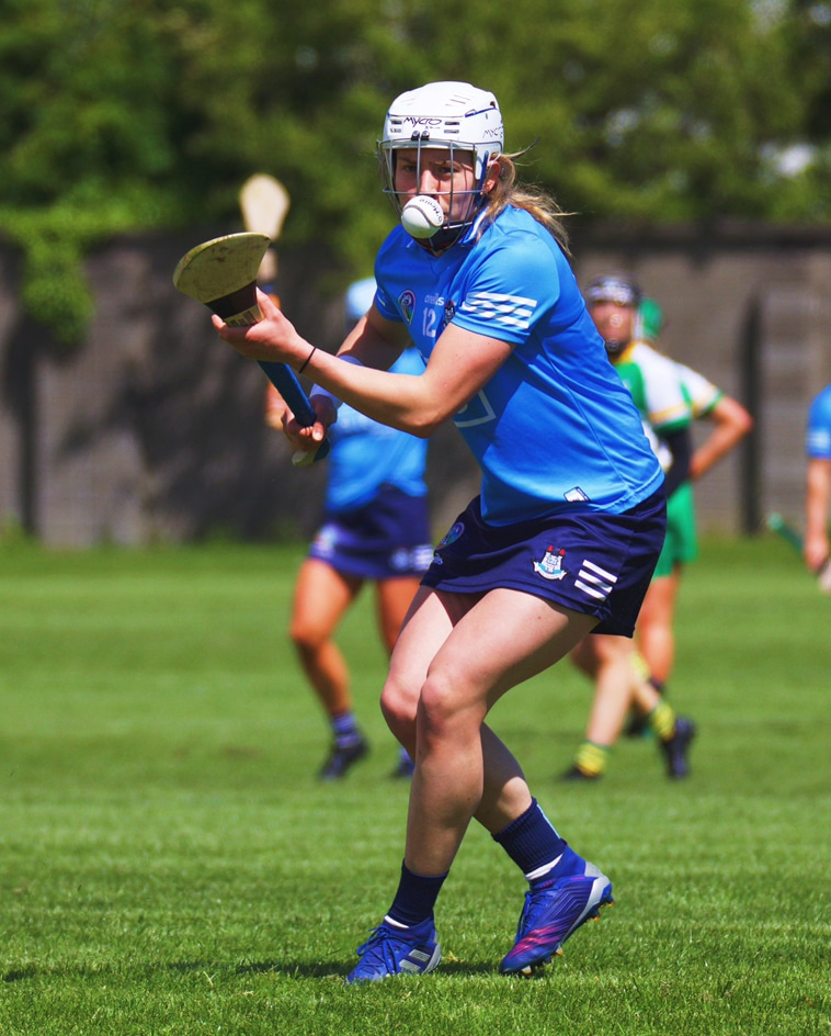 Dublin's Aisling Maher takes a free against Offaly in their Littlewoods Ireland Camogie League encounter at the weekend.