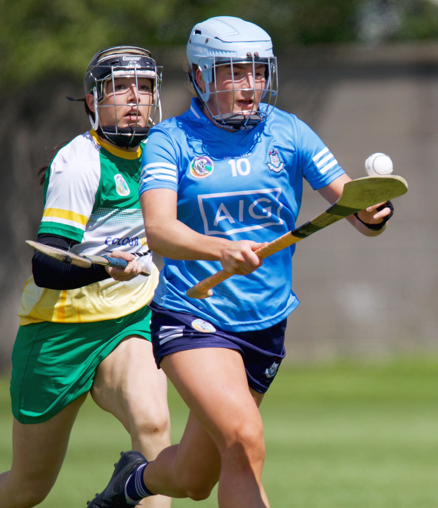 Niamh Gannon from the Dublin Camogie seniors in action during their league loss to Offaly