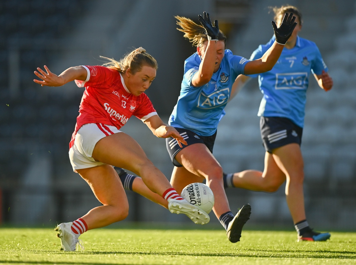 A Cork and Dublin Ladies footballer in action during their Lidl NFL Round 2 game at the weekend.