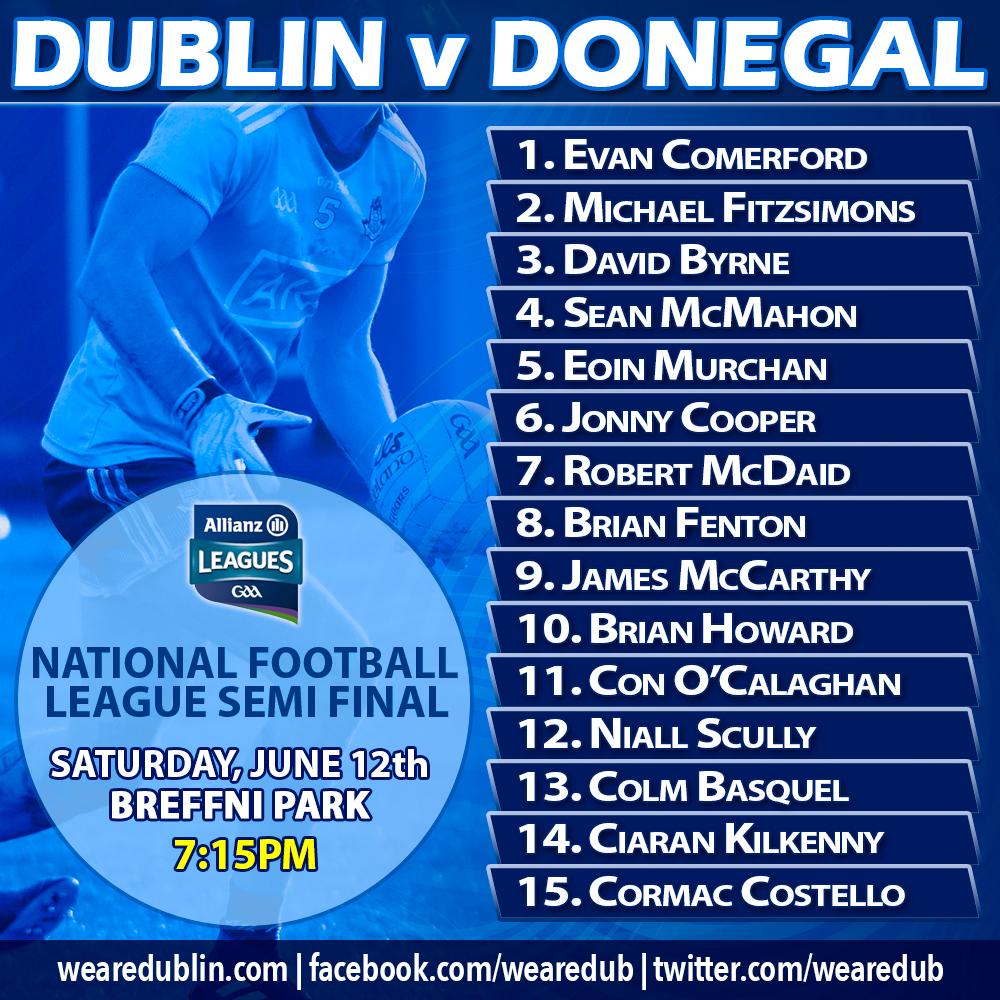 Dublin Senior Footballers v Donegal - Allianz NFL