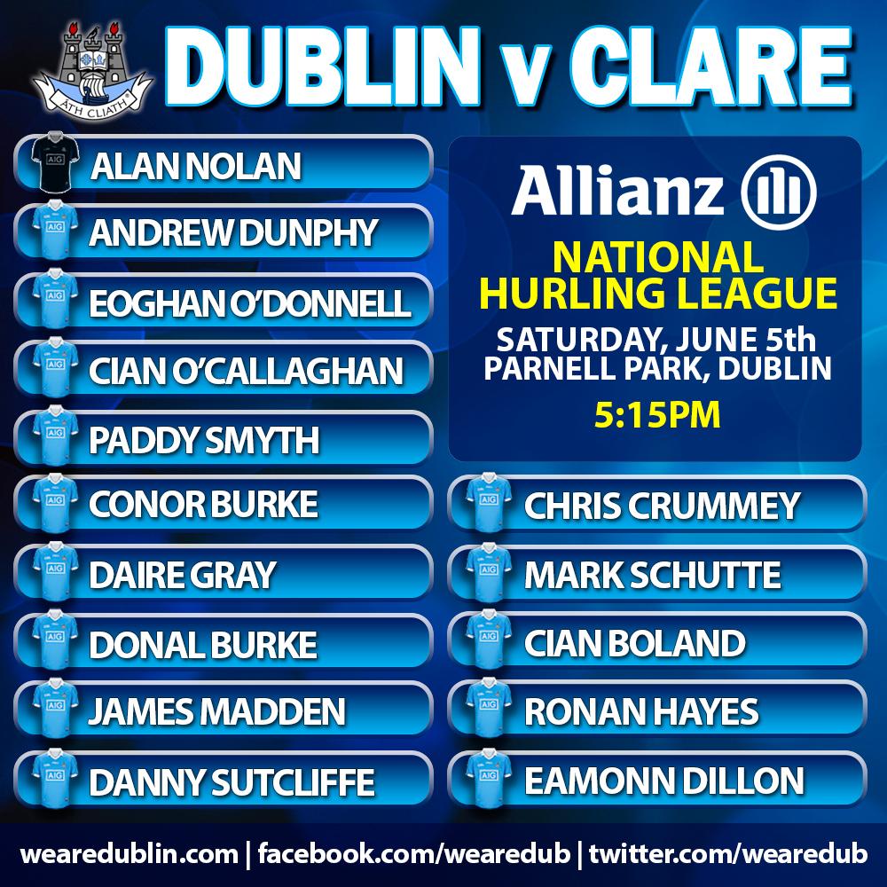 Dublin v Clare - National Hurling League