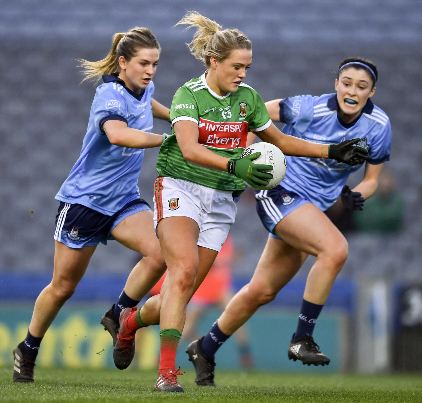 Dublin and Mayo players in action during a league game, both sides meet again this weekend in the Lidl NFL semi finals