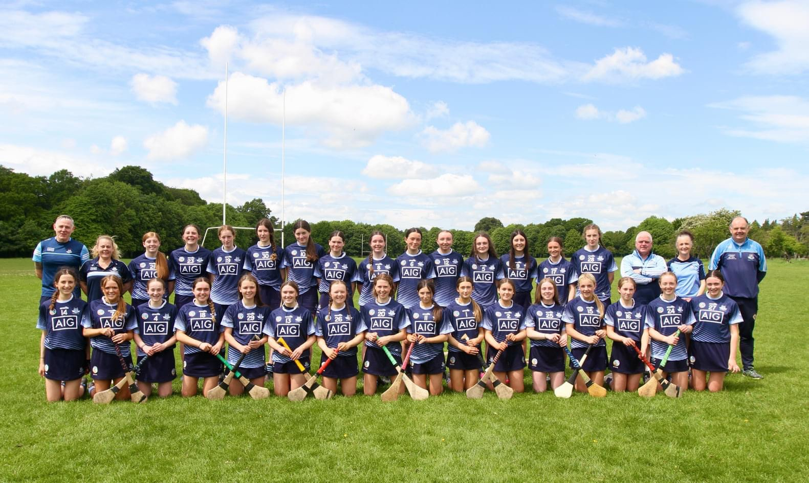 U16 Dublin Camogie squad and management pictured at a training session