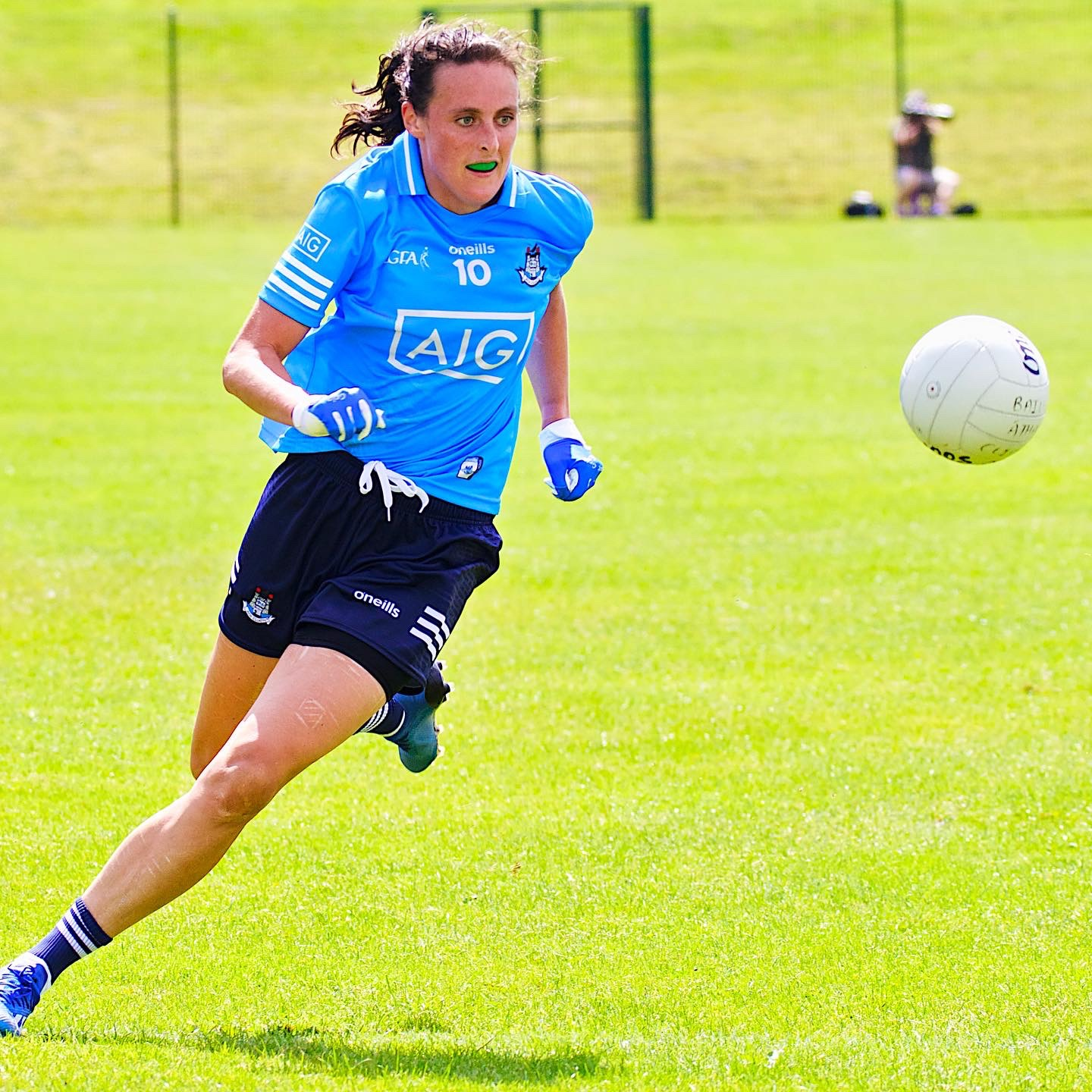 Dublin's Hannah Tyrrell in action against Waterford, the Sky Blues face Donegal this Bank Holiday Monday in the TG4 Senior All Ireland quarter final.
