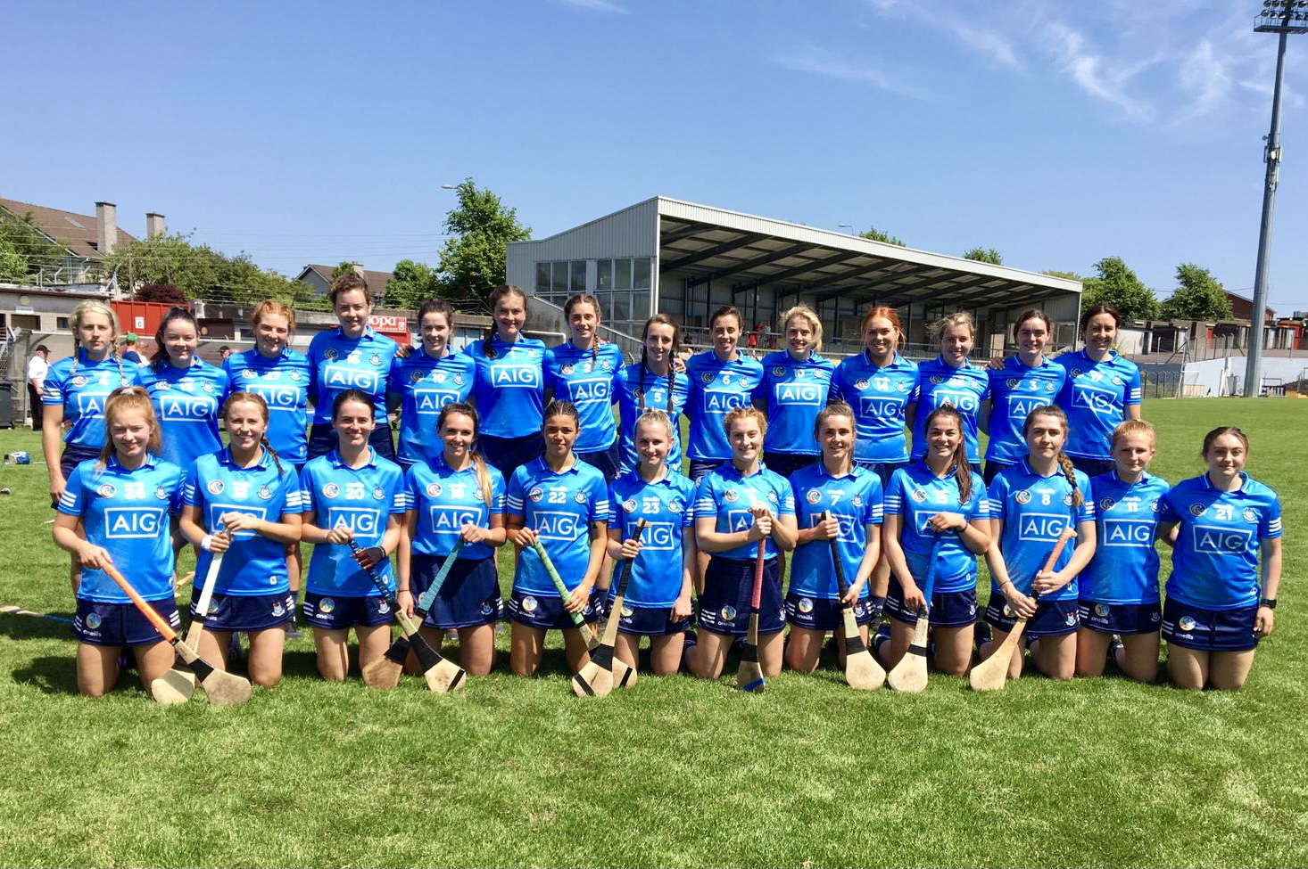 Dublin Senior Camogie squad pictured before their opening game of the 2021 Camogie Championship against Cork