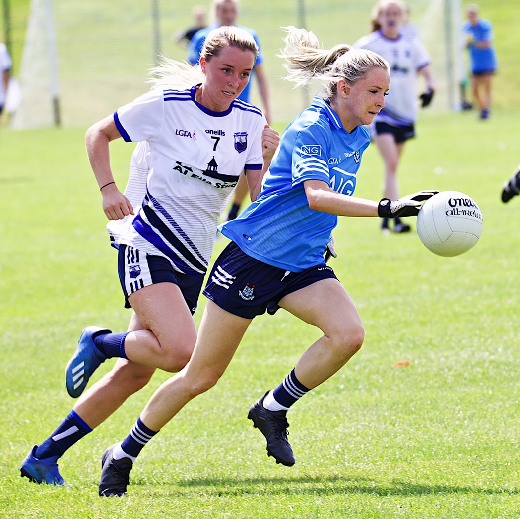 Caoimhe O'Connor in action against Waterford, O'Connor scored two goals in the game to help Dublin qualify for the All Ireland quarter finals.