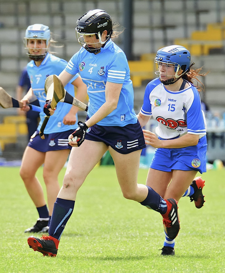 Dublin Camogie player in action against Waterford, the two sides meet again tomorrow in a must win championship clash for Dublin