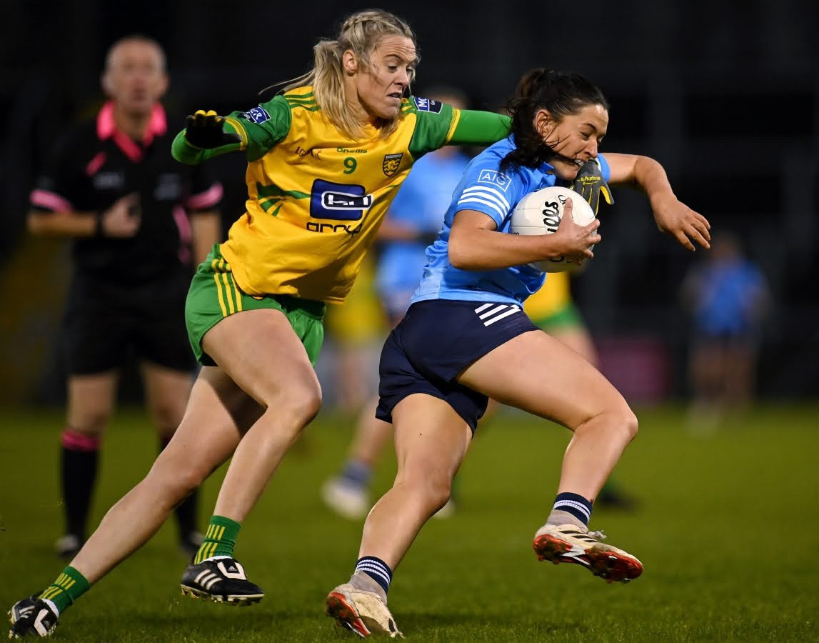 Dublin's Sinead Goldrick in action against Donegal, both sides meet for the second year in a row at the Quarter Final stage of the TG4 All Ireland Championship