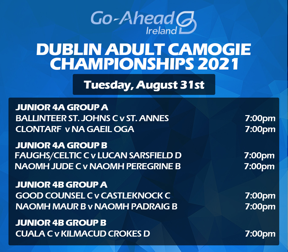 Adult Camogie Championship - Week 2 Fixtures