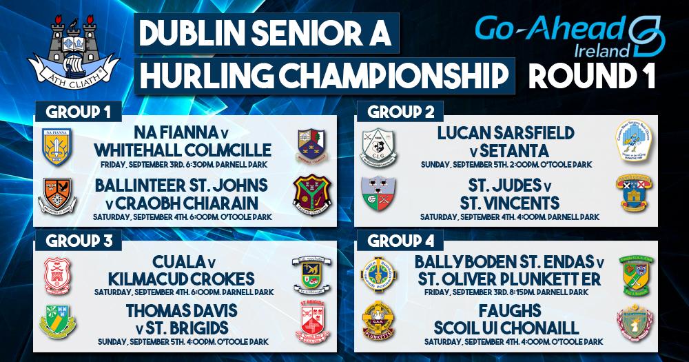 Dublin Senior A Hurling Championship - Round 1 Fixtures