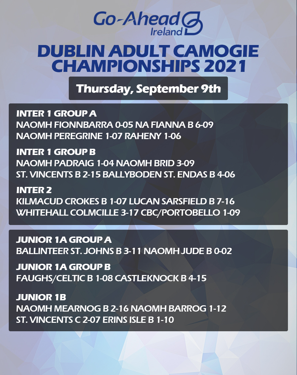 Adult Camogie Championship - Week 3 Results