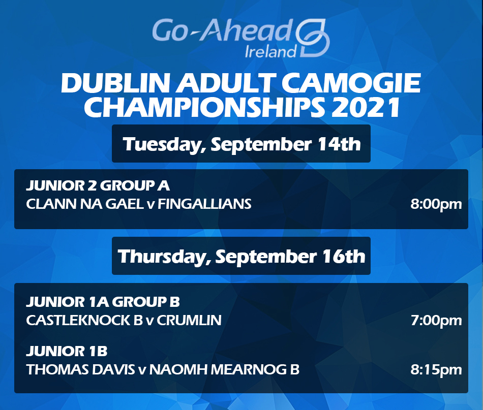 Adult Camogie Championship - Week 4 Fixtures