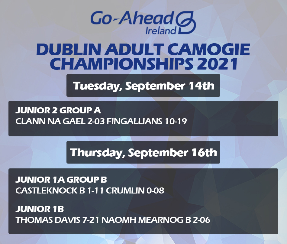 Adult Camogie Championship - Week 4 Results