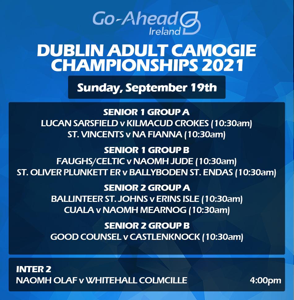 Dublin Senior Camogie Championship Fixtures