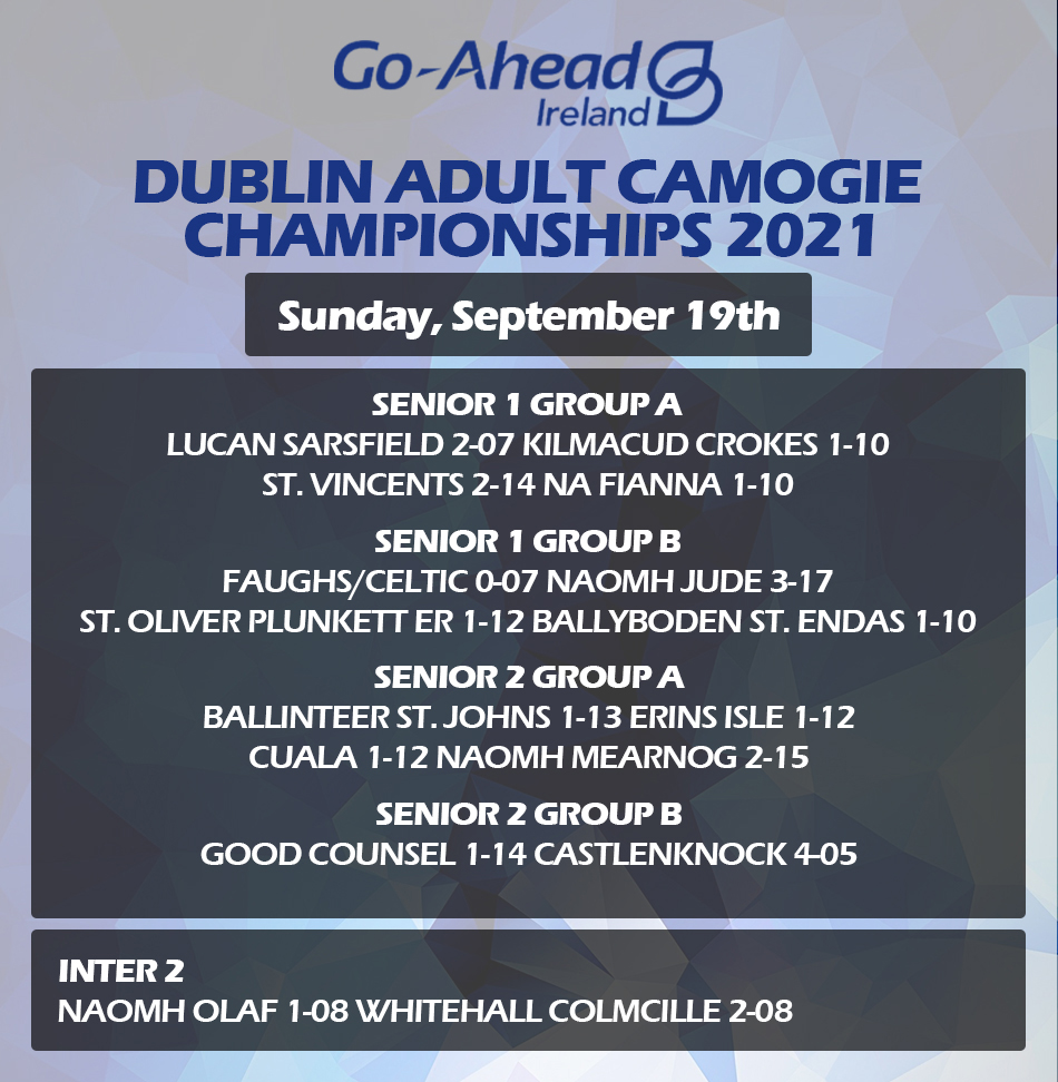 Dublin Senior Camogie Championship Results
