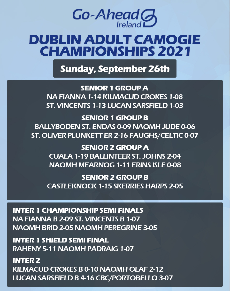 Dublin Adult Camogie Championship Results