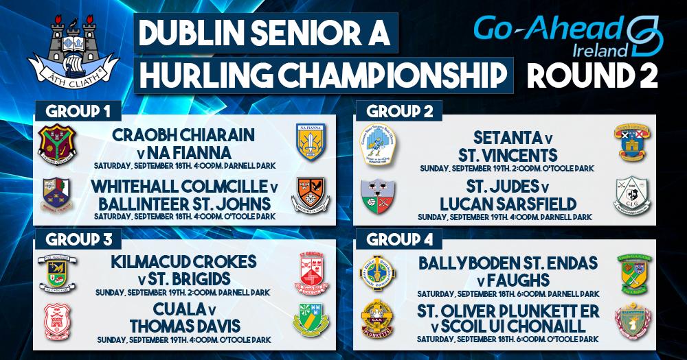 Dublin Senior A Hurling Championship - Round 2 Fixtures