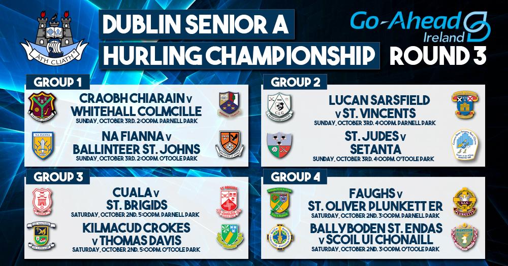 Dublin Senior A Hurling Championship - Round 3 Results