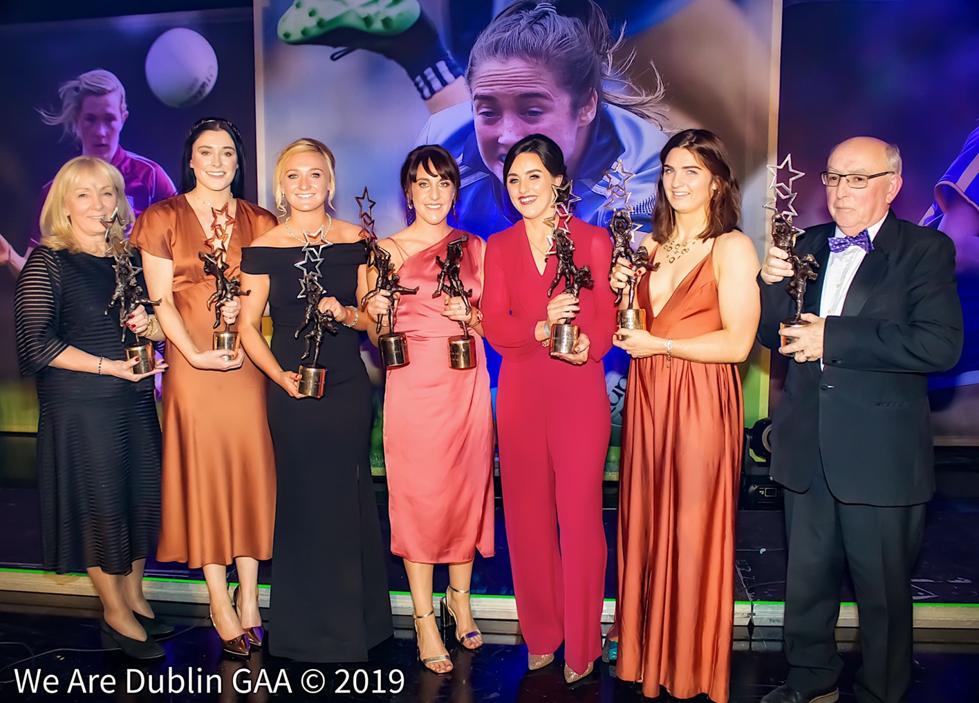Photo of the Dublin Ladies Football All Star winners from 2019, the nominations for this years awards have just been announced.