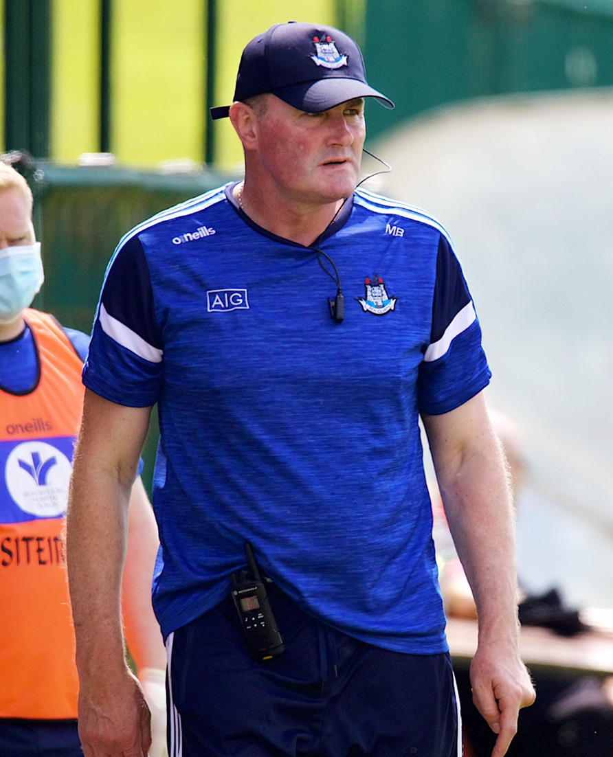 Dublin manager Mick Bohan keeps an eye on the action as his team took on Waterford in the All Ireland Championship group stage.