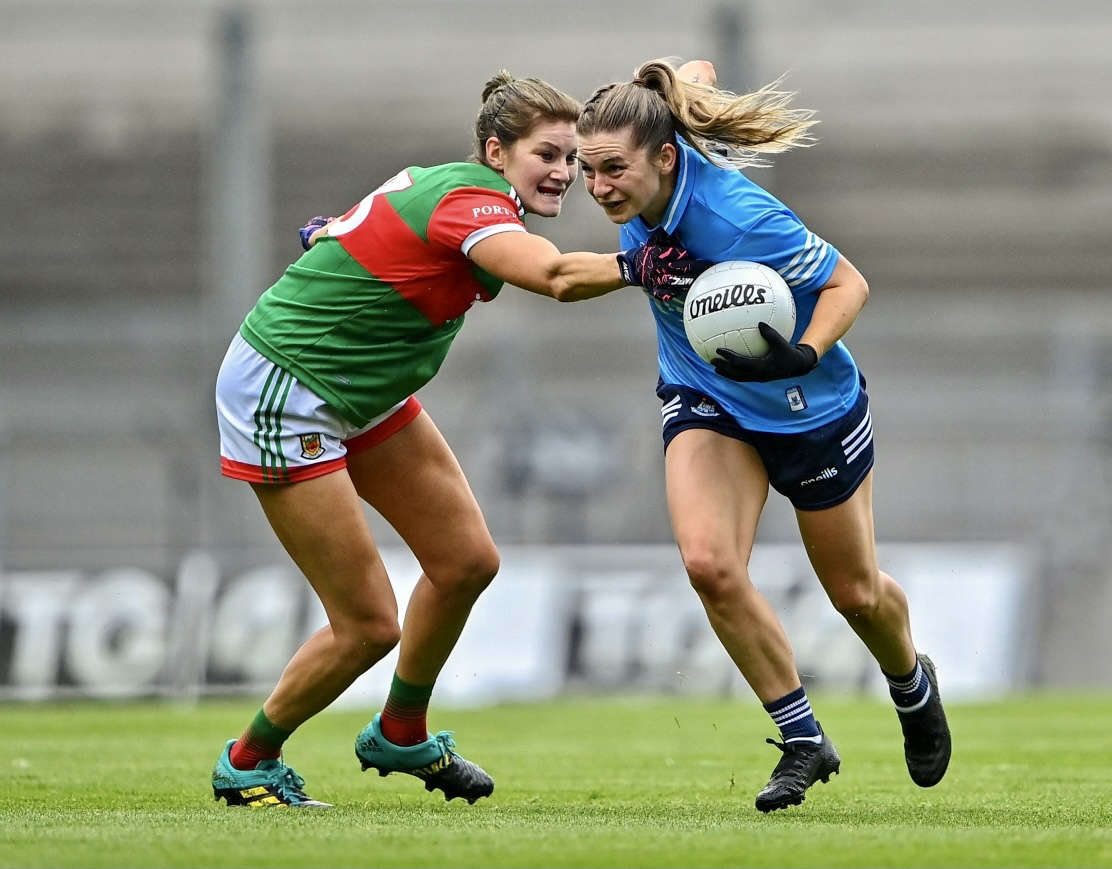 Dublin's Martha Byrne in action against Mayo in the All Ireland Championship semi final.