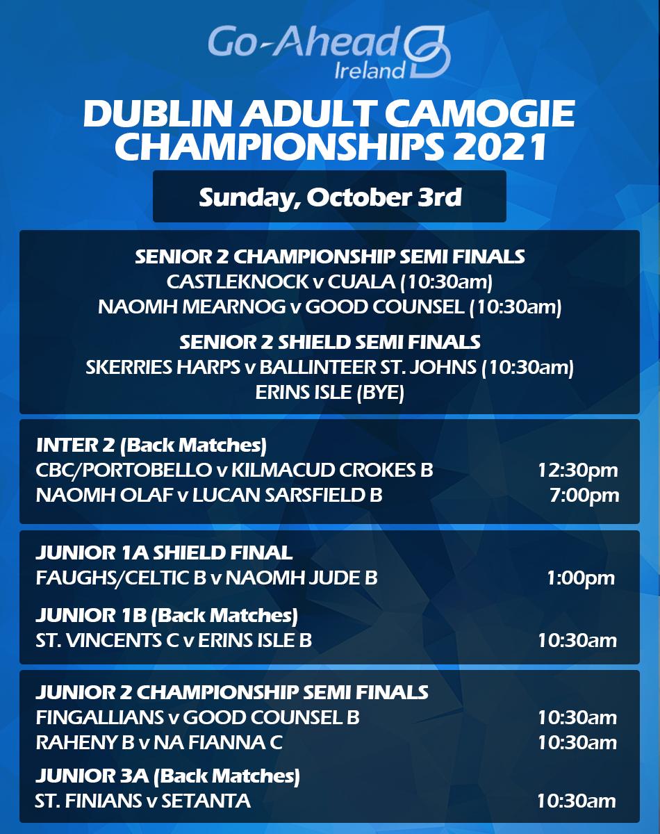 Dublin Adult Camogie Championship Fixtures