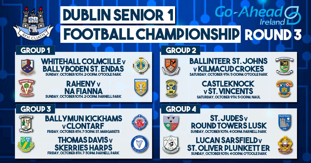 Dublin Senior 1 Football Championship Fixtures
