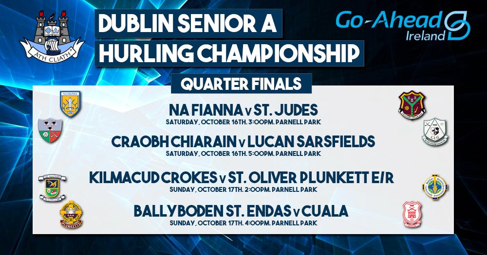 Dublin Senior A Hurling Championship - Quarter Final Fixtures